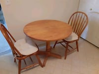 Country Style Drop Leaf Kitchen Table with Two  Chairs.