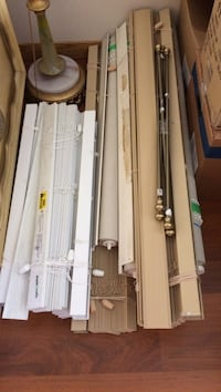 Window covers.  Many sizes to choose from.   Excellent condition.  Moved.  They don't fit.   Leamington