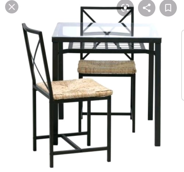 Sold Ikea 3 Piece Dining Set In