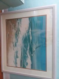 white wooden framed painting of sea Fort Myers, 33901