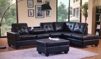 Black Reversible Sectional with Storage Ottoman Georgetown, 78633