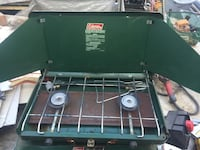 Green and black coleman gas grill Halfmoon, 12065
