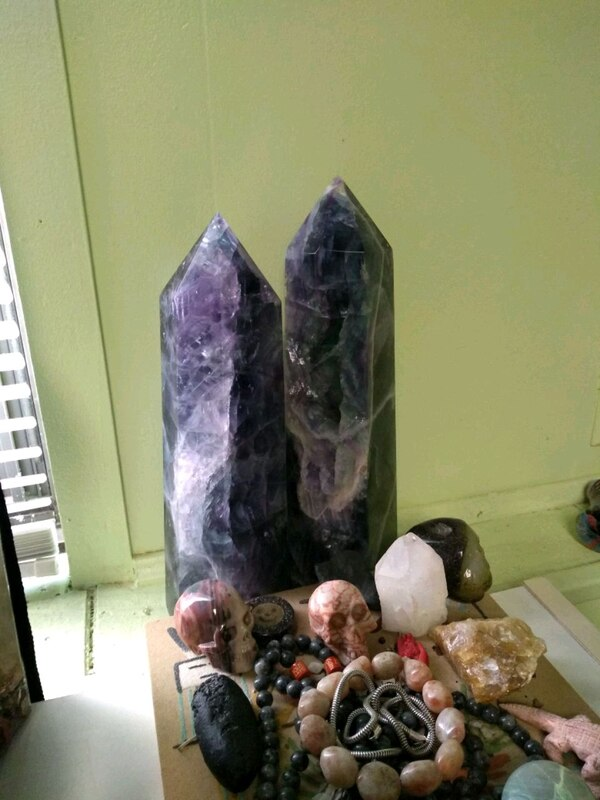 Rainbow flourite obelisk pillar towers