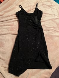 Brand New Black Revamped Asymmetrical Sleeveless Mini Dress (Size S)