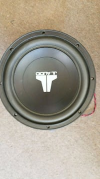 black and gray JL Audio subwoofer