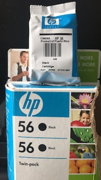 HP 56 Two Black Ink Cartridges NEW Cheshire