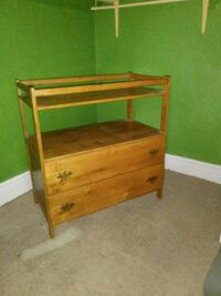 changing table with drawers, custom-made solid oak Holland, 49423