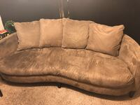 Plush Suede Sofa  Atlanta, 30318