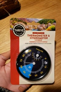 Reptile habitat thermometer and hydrometer