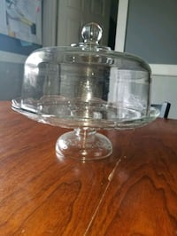 glass plate stand with dome lid Hamilton, L9A 2G3