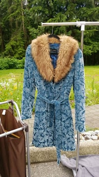 blue and brown fur coat Anmore, V3H 5G6