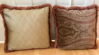 Pillow Decorative Beautiful Two Sided Brown Set of 2 Los Angeles
