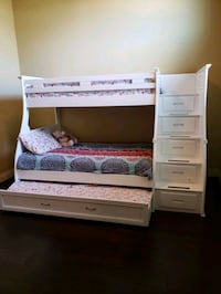 white wooden bunk bed with drawers Helotes, 78023