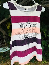white and pink stripe scoop-neck shirt Los Angeles, 91345