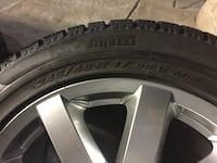 Set of 4 Rims with Pirelli winter tires 245/45/R17 of 2014 E-Benz Mississauga, L5M 7V2