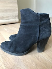 Mango sorte suede side-zip booties i str 40