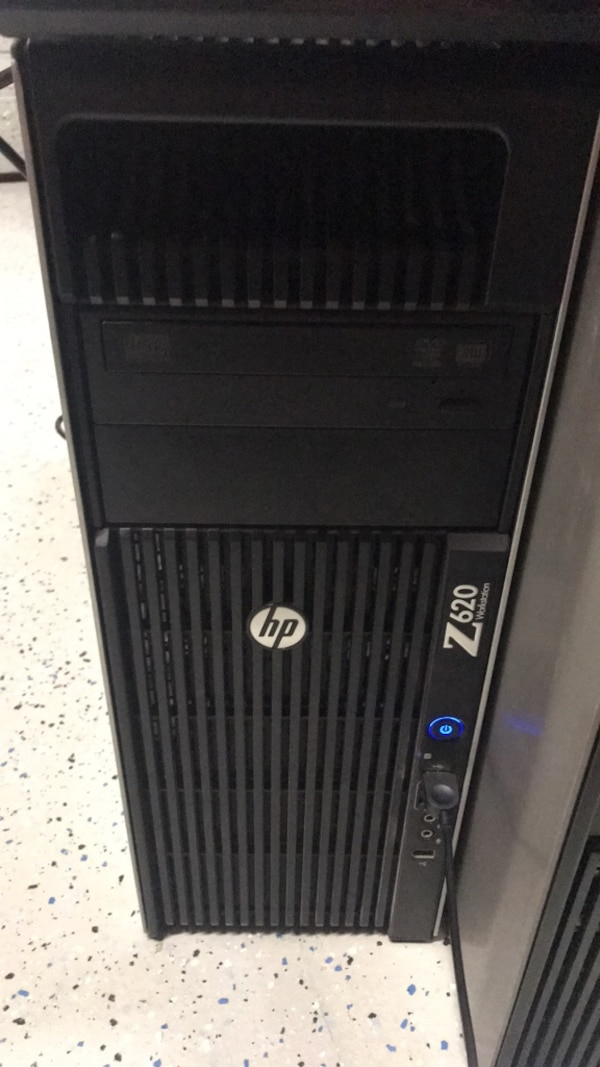 HP Z620 workstation desktop 3 7 GHz, 64gb, 500gb HDD