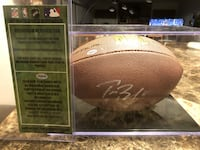 autographed brown football