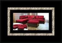 Red sectional with ottoman College Park, 20742