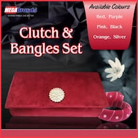 Clutches with Bangles in Pakistan Contact: [TL_HIDDEN]  Lahore