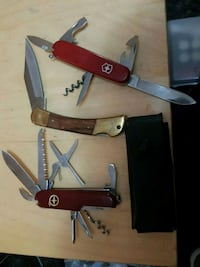Knives Swiss army and a China