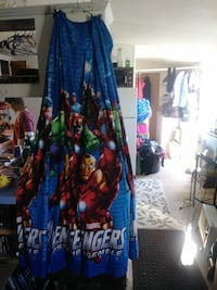 blue and red Marvel Avengers textile