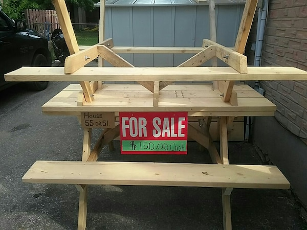Used Brown Wooden Picnic Tables For Sale In London Letgo
