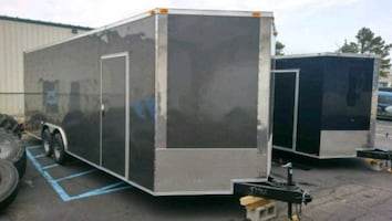 ENCLOSED VNOSE ALUMINUM TRAILERS IN STOCK