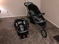 Graco fastaction fold jogger click connect baby travel system, Gotham, one size Twinsburg, 44087