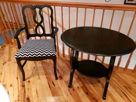 Accent chair and side table