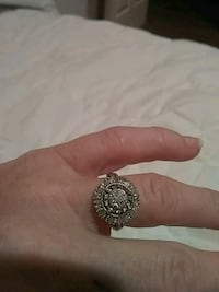 silver and diamond studded ring Cedar Crest