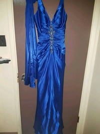 Blue grad dress with scarf Edmonton, T5P 4H2