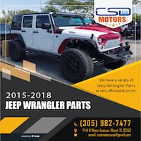 2015-2018 Jeep Wrangler JK, JL for Parts and Accssories MIAMI