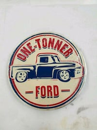 Ford one tonner ton truck embossed metal sign  Vancouver, 98685