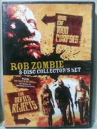 Rob Zombie 3 disc collector's set dvd