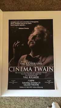 Signed Val Kilmer Poster Kansas City, 64118