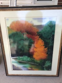 Robert Striffilino Autumn Medley limited signed print w/ c of a Reading, 19606