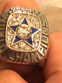 Dallas Cowboys Superbowl Championship Ring, Size 11, Gold Filled 18k, w/ cz stones (replica) Athens, 35611