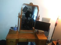 brown wooden multi drawer vanity or Kurio or makeup station whatever you want to call it Bremerton