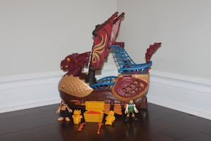 Fisher Price Imaginext Dragon Serpent Pirate Viking Ship w/ Characters
