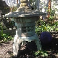 ACID STAIN CONCRETE GARDEN ORNAMENT