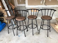 Brown bar stools Brampton, L6X 5C9
