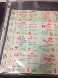 1964 wold series phillies rain check tickets. Grea