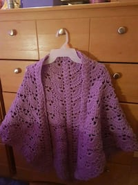 women's purple knitted sleeveless top