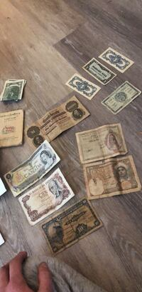 various currency(collectors) money Oley, 19547