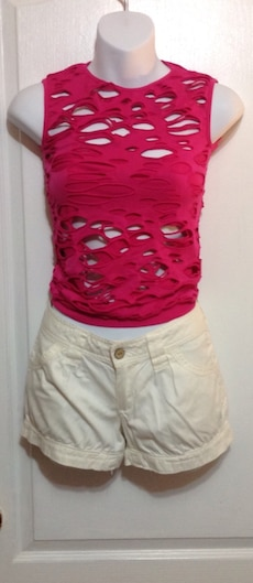 Pink Cut-Out Top   Size Small
