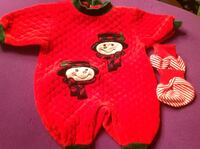 red and black snowman onesie
