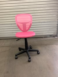 Brand New Pink Height Adjustable Swivel Home Office Chair with Wheels Walnut, 91788