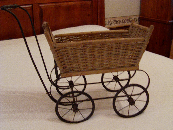 Over 100 year old doll buggie YORK