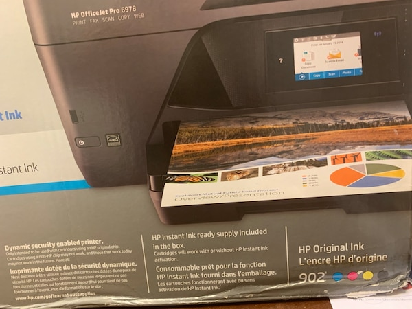 New in box: HP OfficeJet Pro 6978 printers (two (2) available)